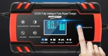 Comparatif meilleur chargeur de batterie auto
