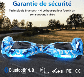 avis hoverboard Bluetooth Led de Bebk