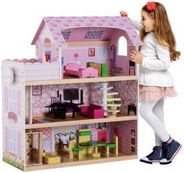 Maison de poupée en bois Homcom