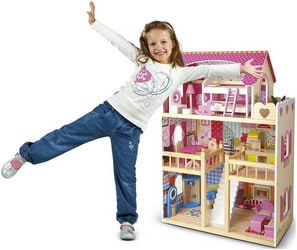 Maison de poupée en bois Tiktaktoo XL