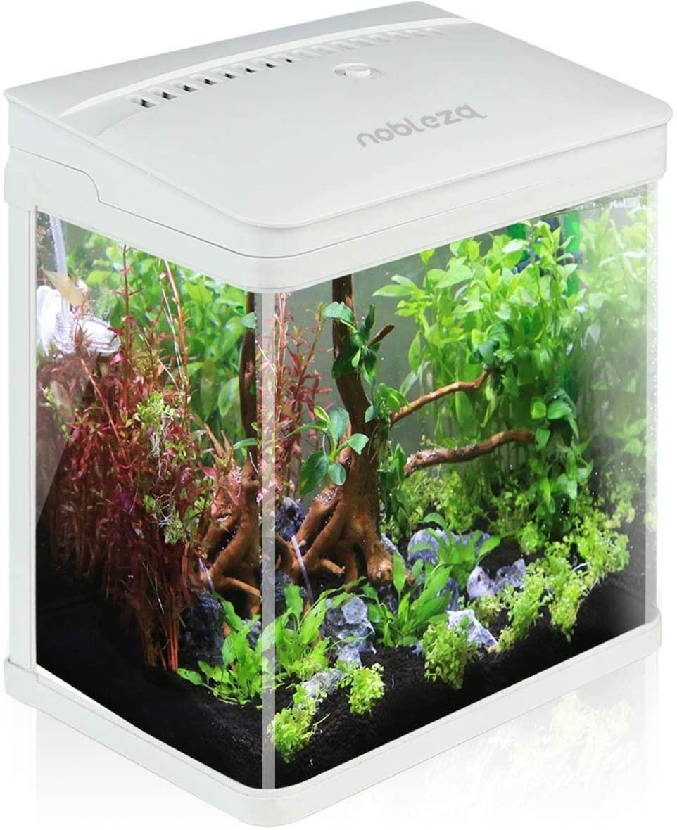 Aquarium en verre avec LED Nobleza