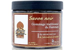Test et avis sur le gommage corps au savon noir Maroc Argan