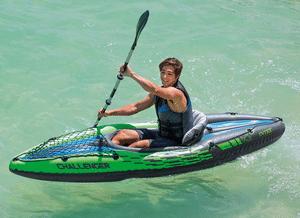 Test et avis sur le kayak gonflable 1 personne Intex Challenger 1