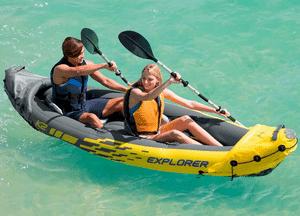 Test et avis sur le kayak gonflable 2 personnes Intex Explorer K2